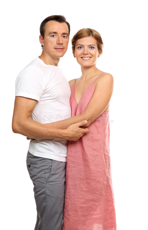 Portrait of an attractive loving couple stock photography