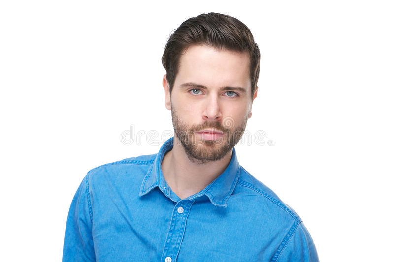 Portrait of an attractive male fashion model stock image