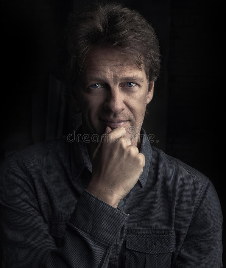 Portrait of attractive man royalty free stock image