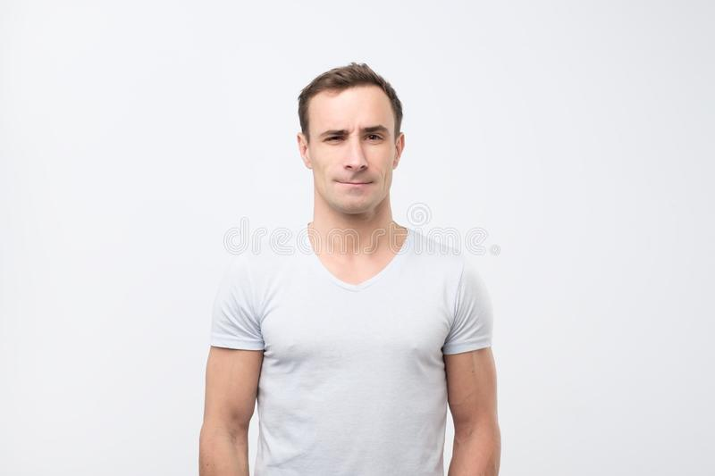 Portrait of a attractive mature italian man looking neutral relaxed and serious. Portrait of a attractive mature italian man looking neutral relaxed and serious royalty free stock photos