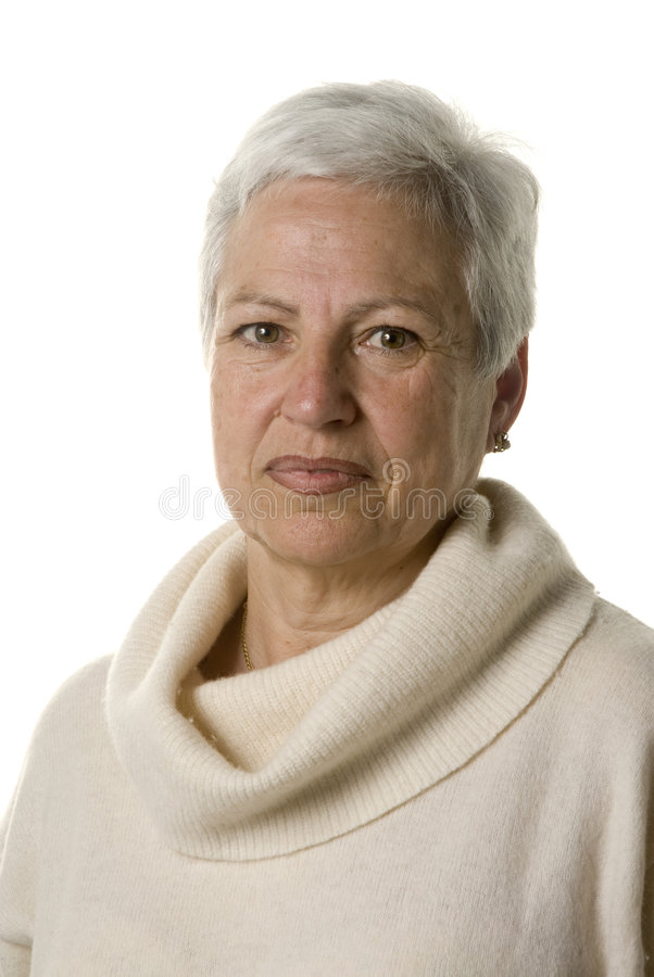 Portrait of an attractive mature woman stock photos