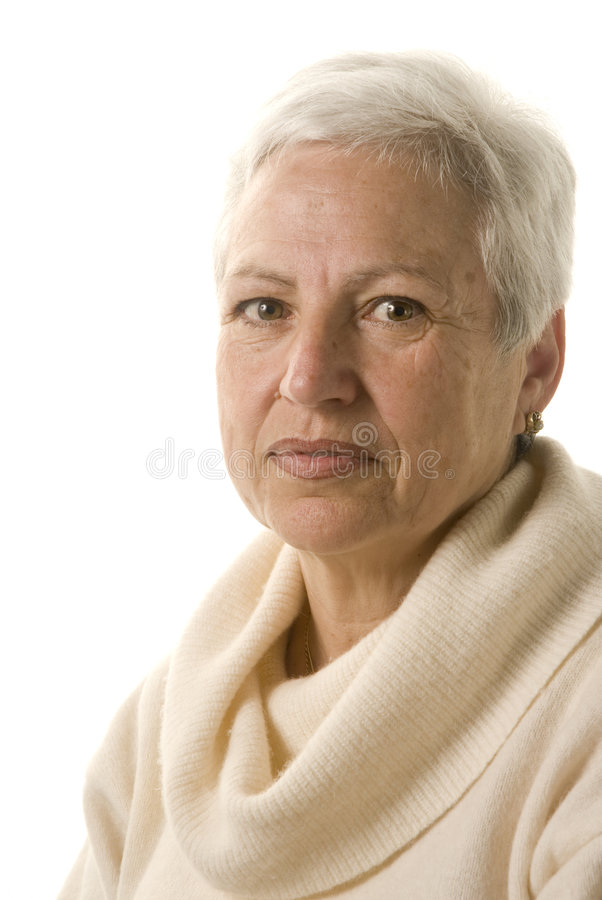 Portrait of an attractive mature woman royalty free stock images
