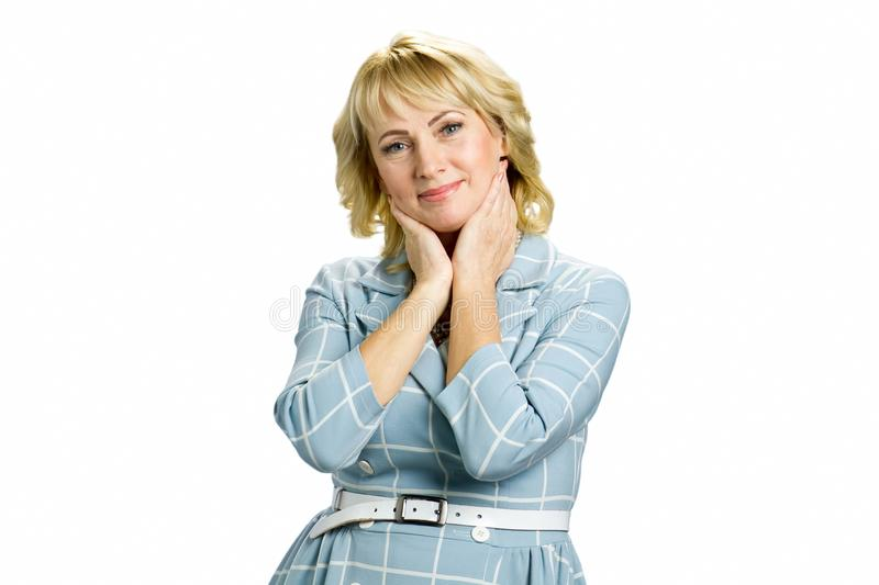 Portrait of attractive mature woman. stock photography