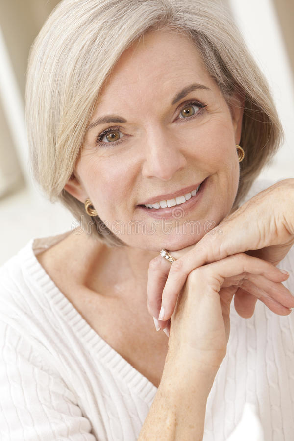 Download Portrait Of Attractive Senior Woman Stock Photo - Image: 20161984
