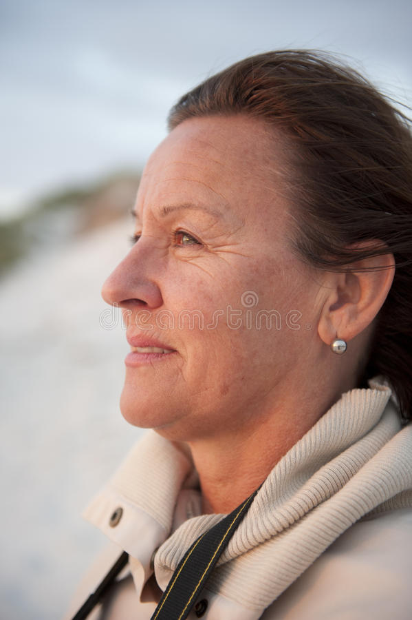 Portrait attractive senior woman royalty free stock photo