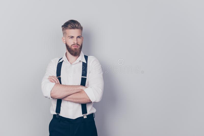 Portrait of attractive sexual seductive confident harsh strict s royalty free stock photos