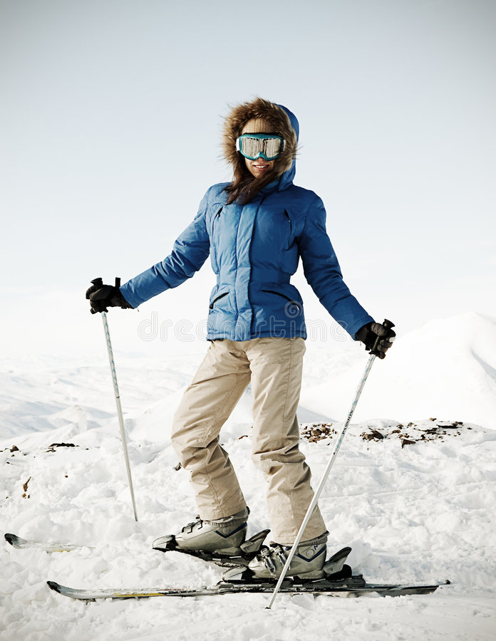 Download Portrait Of Attractive Skier Royalty Free Stock Photography - Image: 7801877