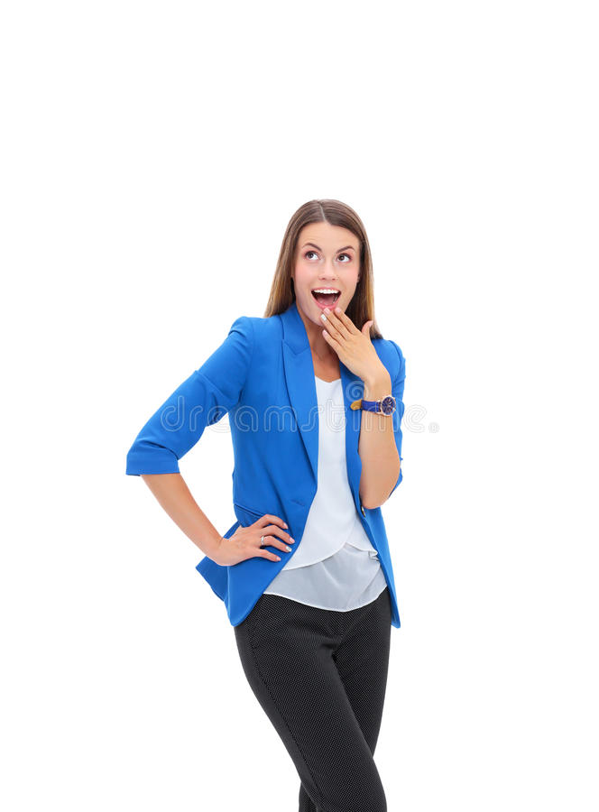 Portrait of attractive smiling woman. stock photos
