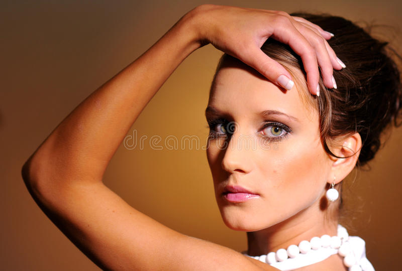 Download The Portrait Of Attractive Woman Stock Image - Image: 15498599