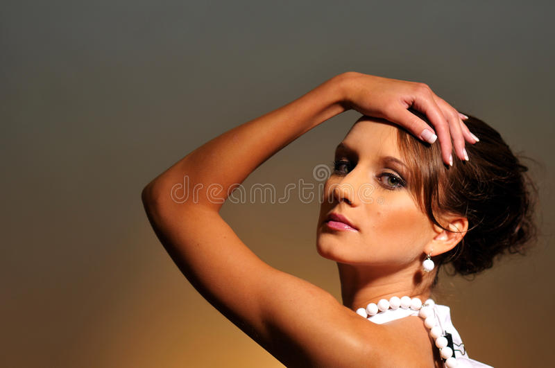 Download The Portrait Of Attractive Woman Stock Image - Image: 15498645