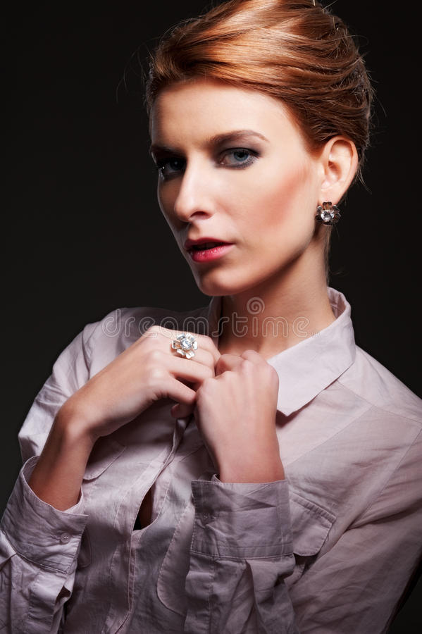 Download Portrait Of Attractive Woman Stock Image - Image: 27914673