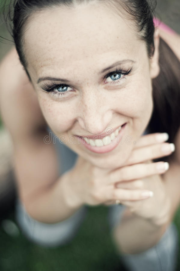 Portrait of attractive woman stock photography