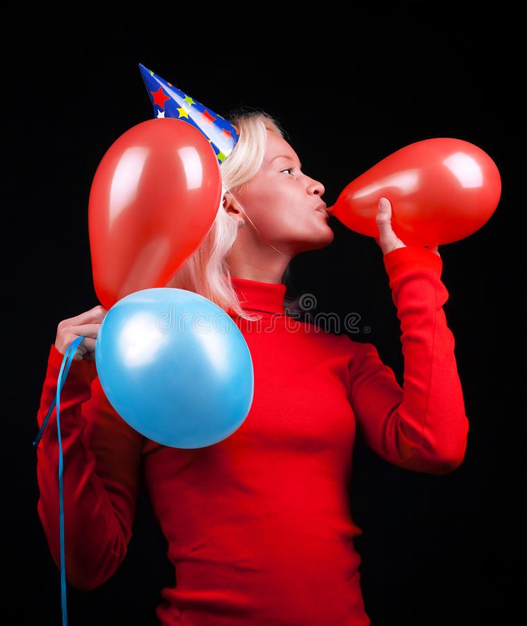Download Portrait Of Attractive Woman Celebrating Royalty Free Stock Image - Image: 11019426