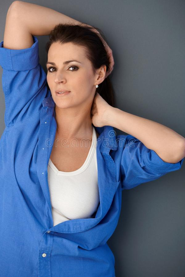 Download Portrait Of Attractive Woman Posing Stock Photography - Image: 20444972