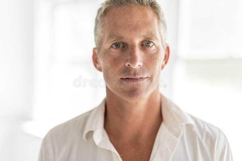 Portrait of attractive 40-year-old man. A Portrait of attractive 40 year old man royalty free stock photo