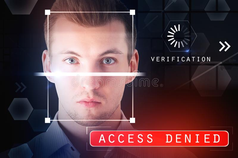 Authentication and access denied concept stock illustration