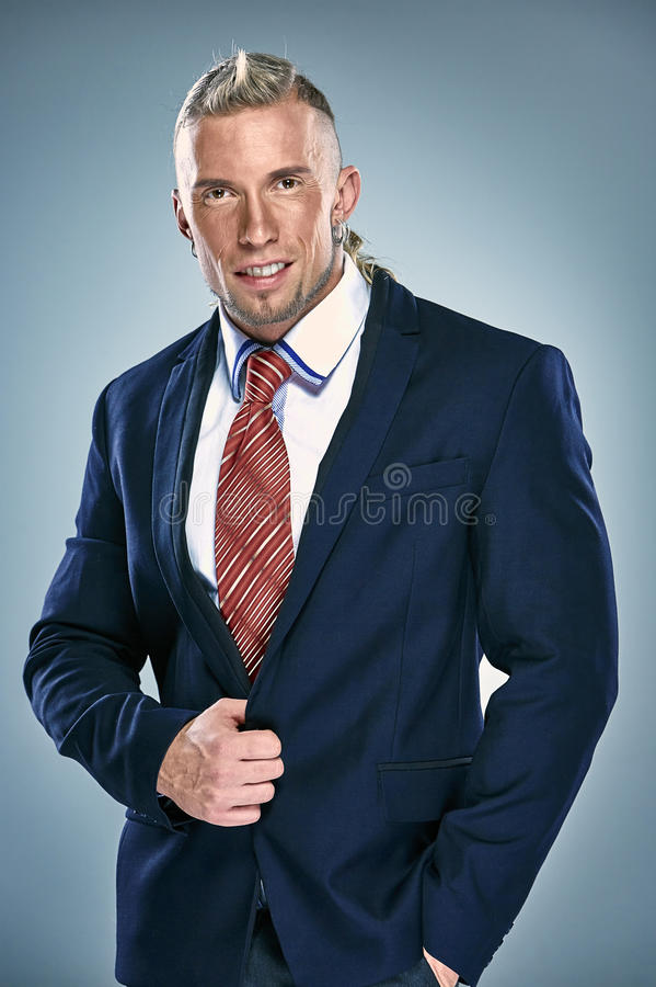 Portrait of an attractive young businessman stock photos