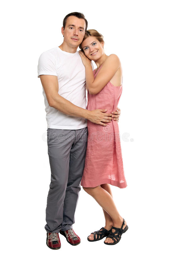 Portrait of an attractive young couple stock photography