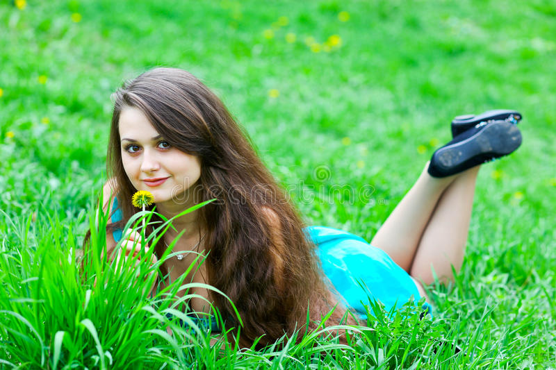 Portrait of attractive young girl stock images