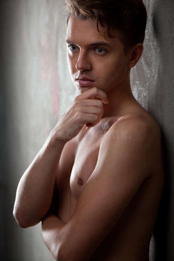 Portrait of an attractive young man stock images