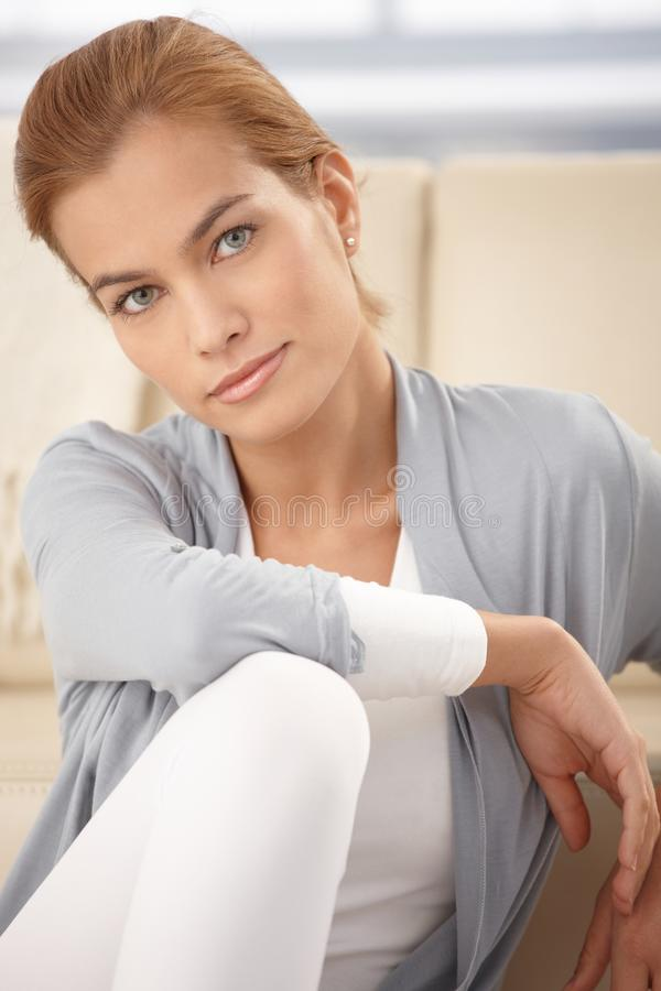 Download Portrait Of Attractive Young Woman Stock Photo - Image: 18637578