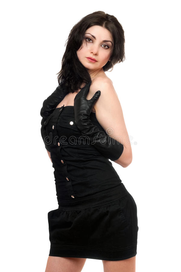 Portrait Of Attractive Young Woman Stock Photos