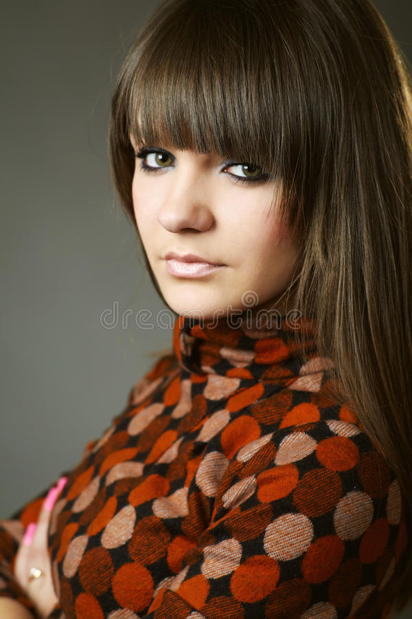 Portrait Of An Attractive Young Woman Stock Photography