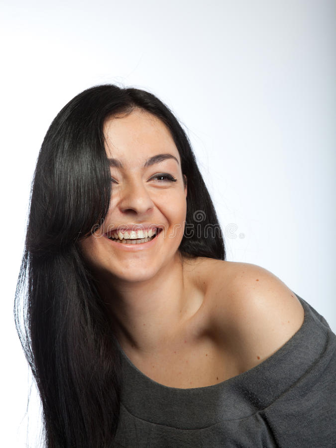 Portrait of attractive young woman stock photography