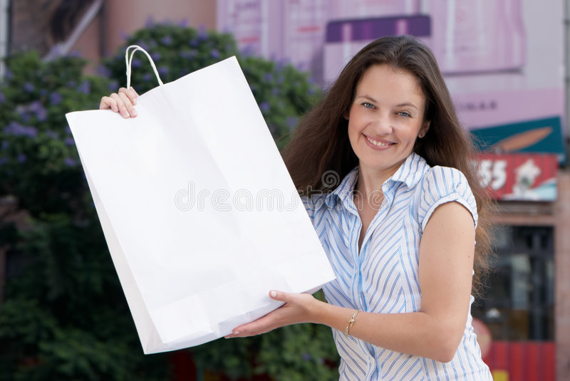 Download Portrait Of An Attractive Young Woman Out Shopping Stock Image - Image: 9109297