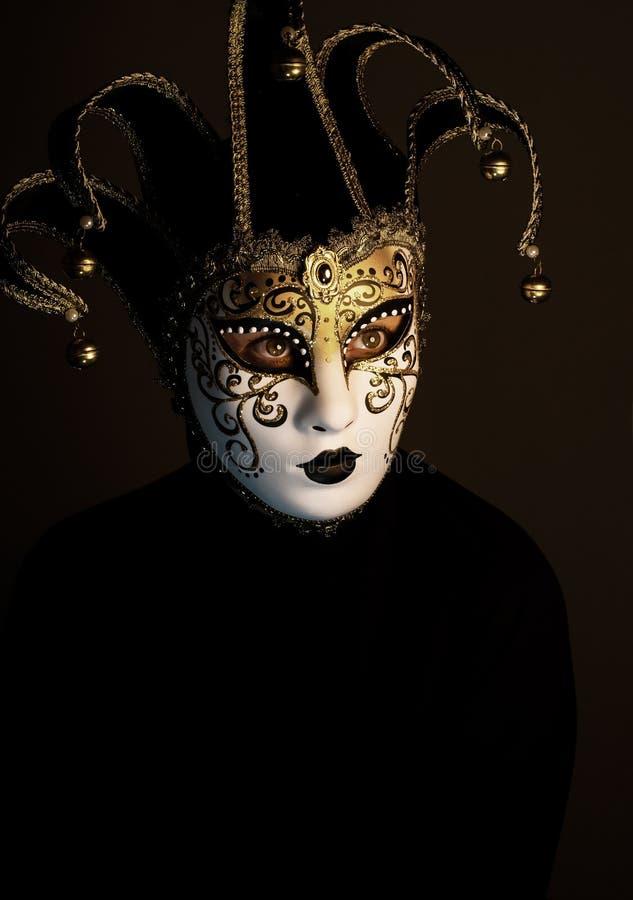 Portrait avec le masque de Venise photographie stock libre de droits