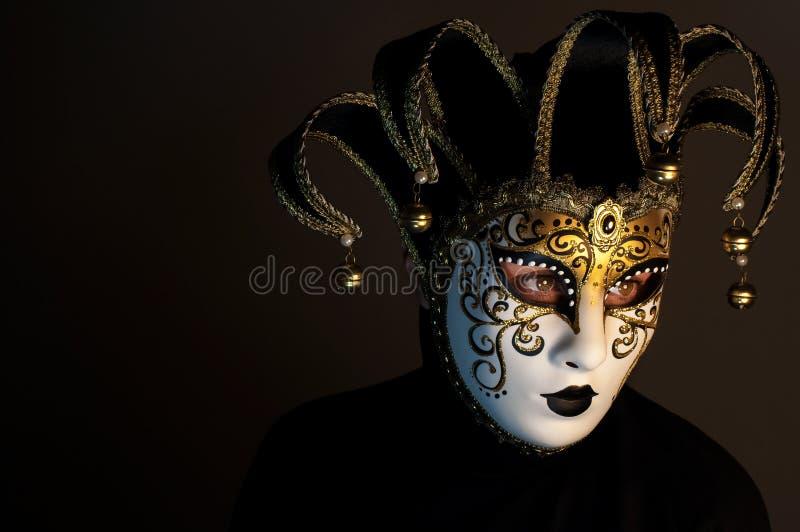 Portrait avec le masque de Venise photos stock
