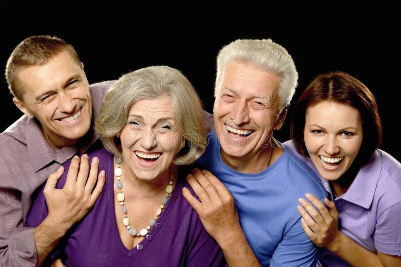 Portrait avec les parents supérieurs image stock