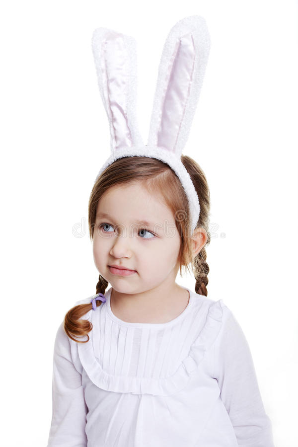 Download Portrait Of Baby Girl With Bunny Ears Stock Images - Image: 22831754