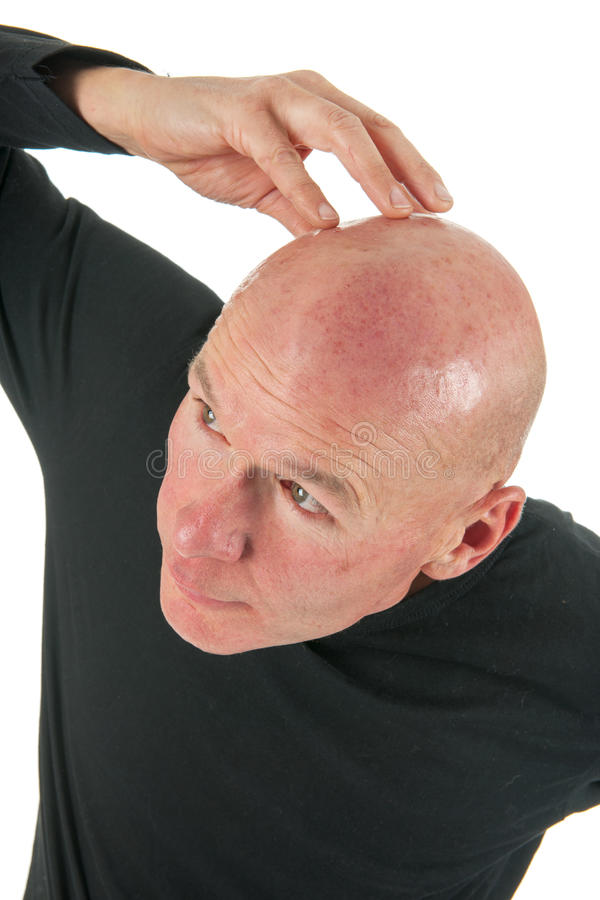 Download Portrait bald man stock photo. Image of hairless, white - 27819524