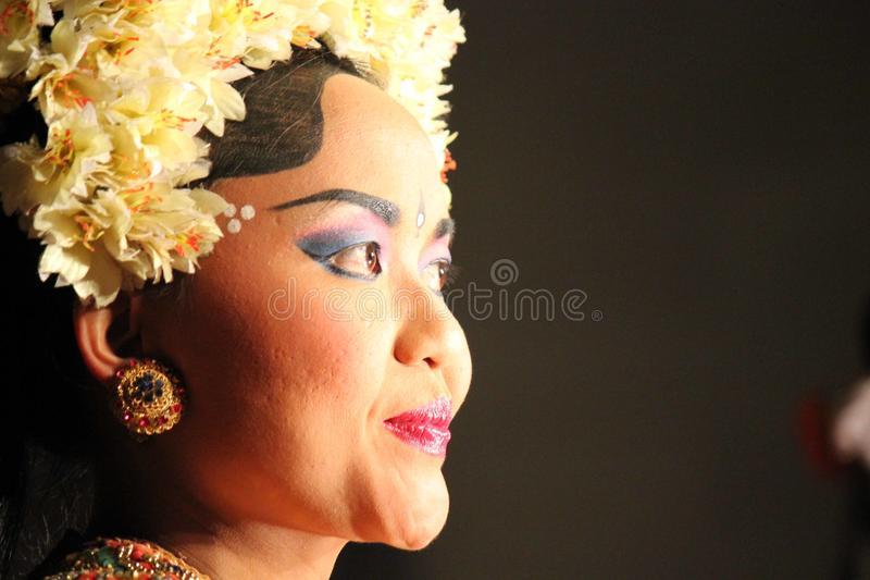 Portrait of a Balinese traditional dancer royalty free stock photos
