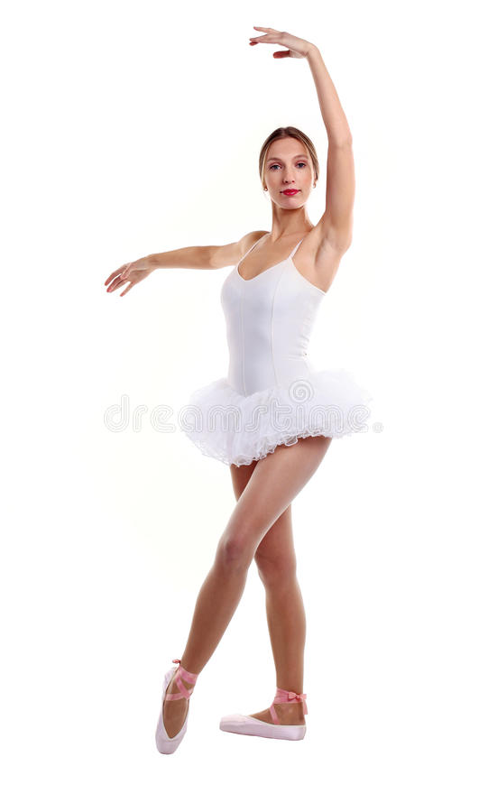 Download Portrait Of Ballet Dancer In Tutu Over White Stock Photo - Image: 24234976