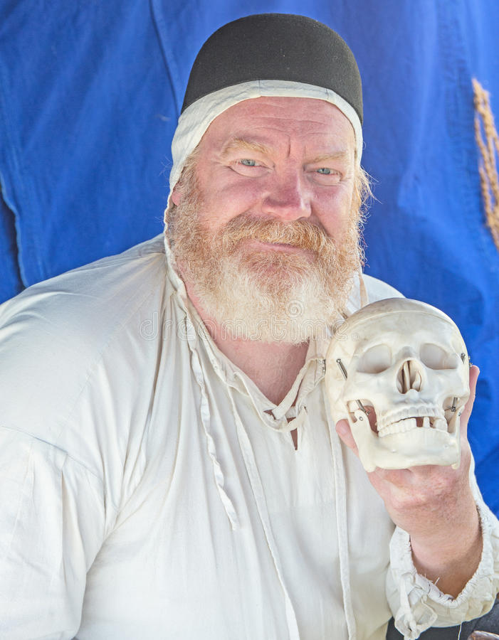 Portrait of Barber Surgeon royalty free stock images