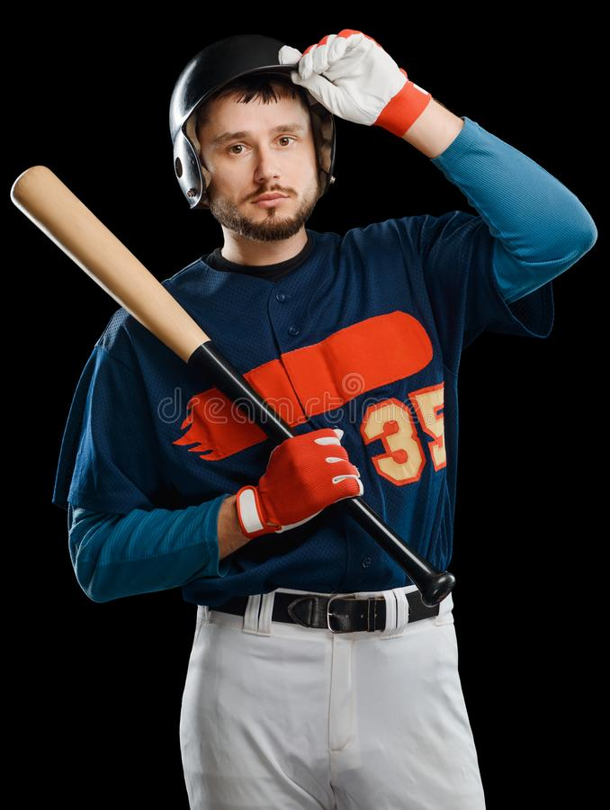 Portrait of a baseball player stock images