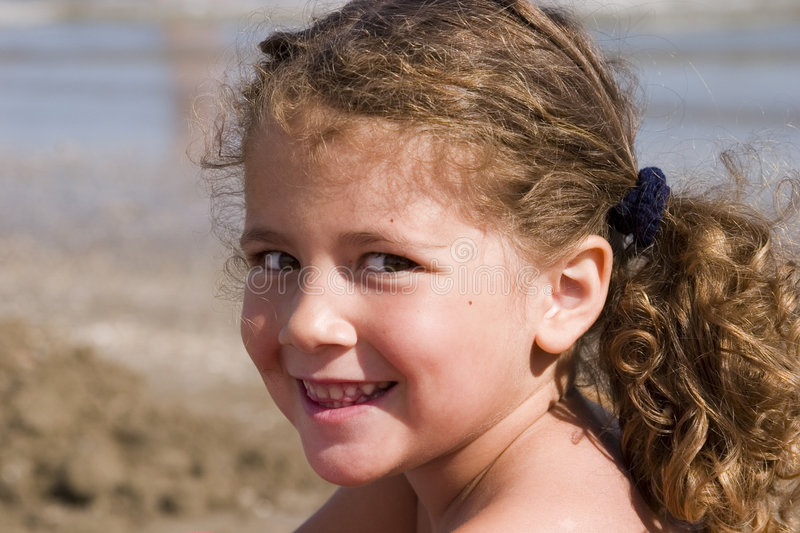 Download Portrait at the beach stock image. Image of childhood, child - 221653