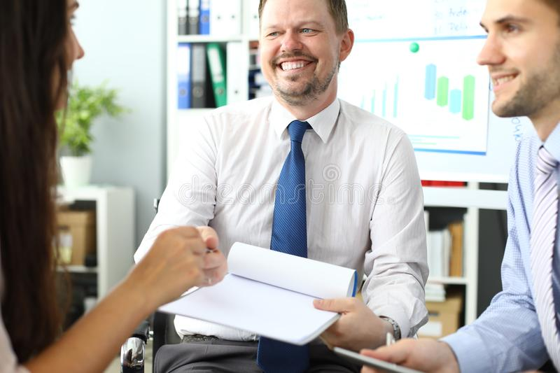 Smart business workers royalty free stock photo