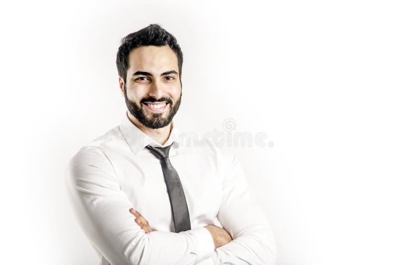 Portrait on Bearded Man royalty free stock photography