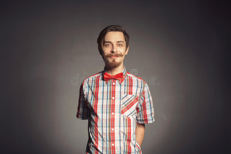 Portrait of bearded hipster royalty free stock images