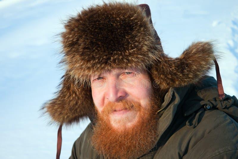 Portrait of a bearded man. royalty free stock photos