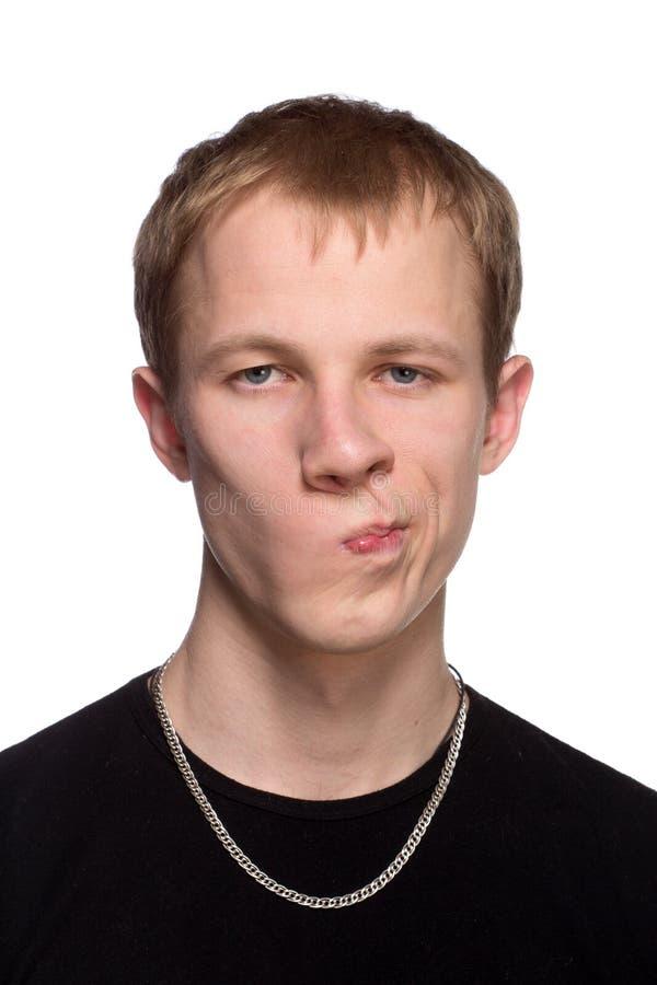Portrait beau de jeune homme photos stock
