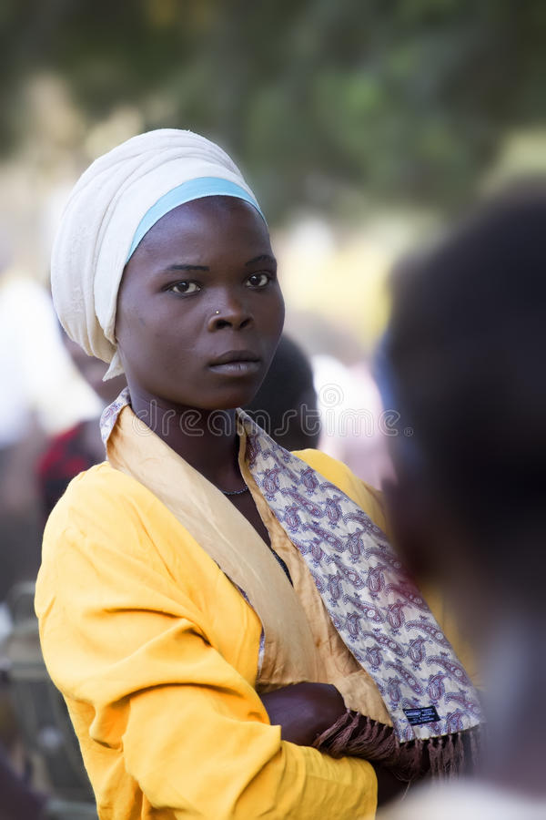 Portrait of a beautiful african girl stock photo
