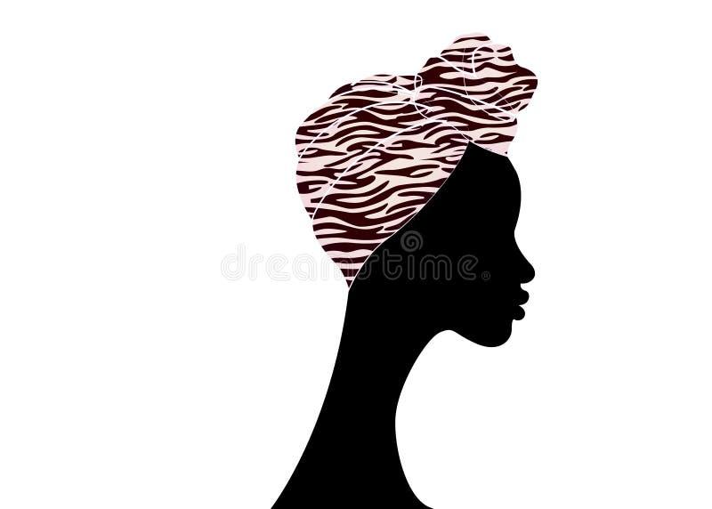 African woman in turban — Stock Vector © vgorbash #80044498