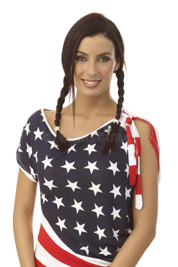 Download American girl stock photo. Image of flag, 25, attractive - 29809096