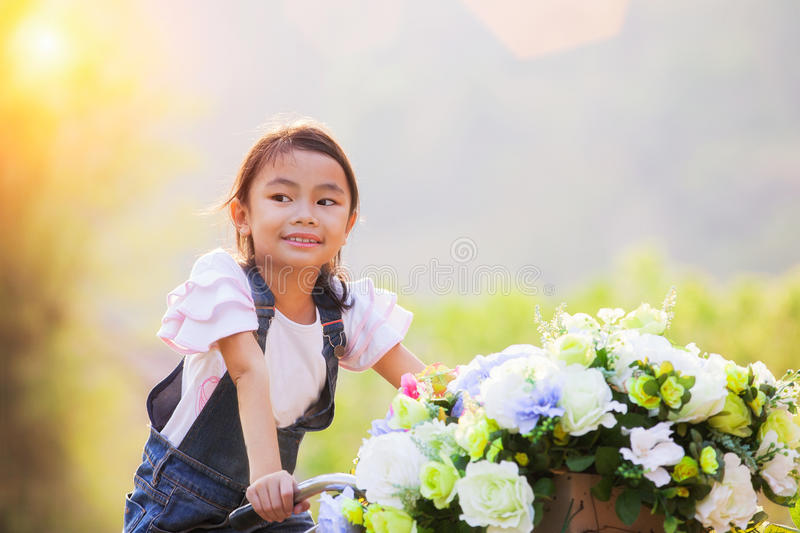 Portrait of a beautiful Asian girl stock photo