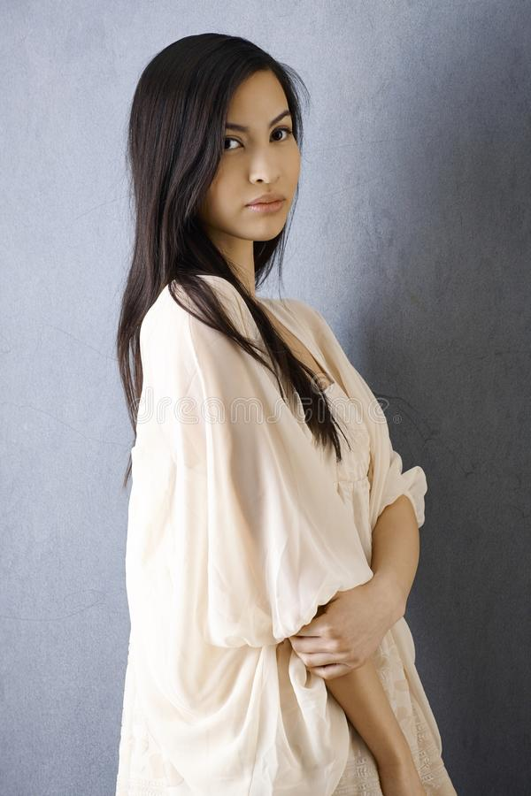 Download Portrait Of Beautiful Asian Girl Stock Photo - Image: 34277354