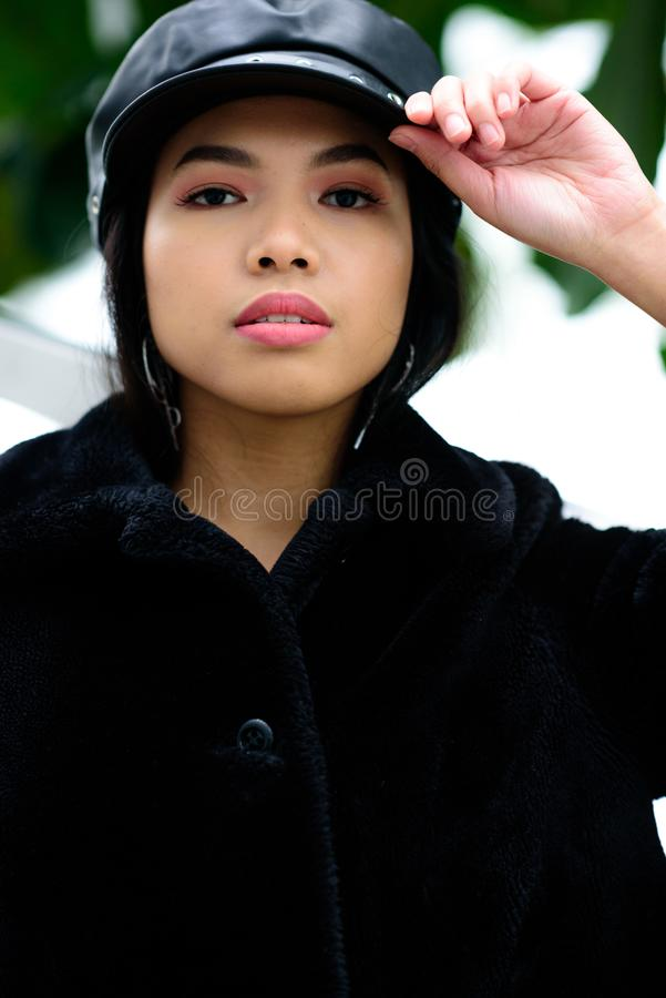 Portrait of a beautiful Asian woman royalty free stock image